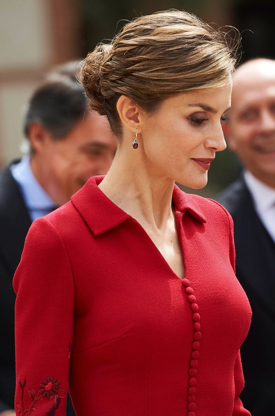 La reine Letizia d'Espagne, le 23 avril 2015