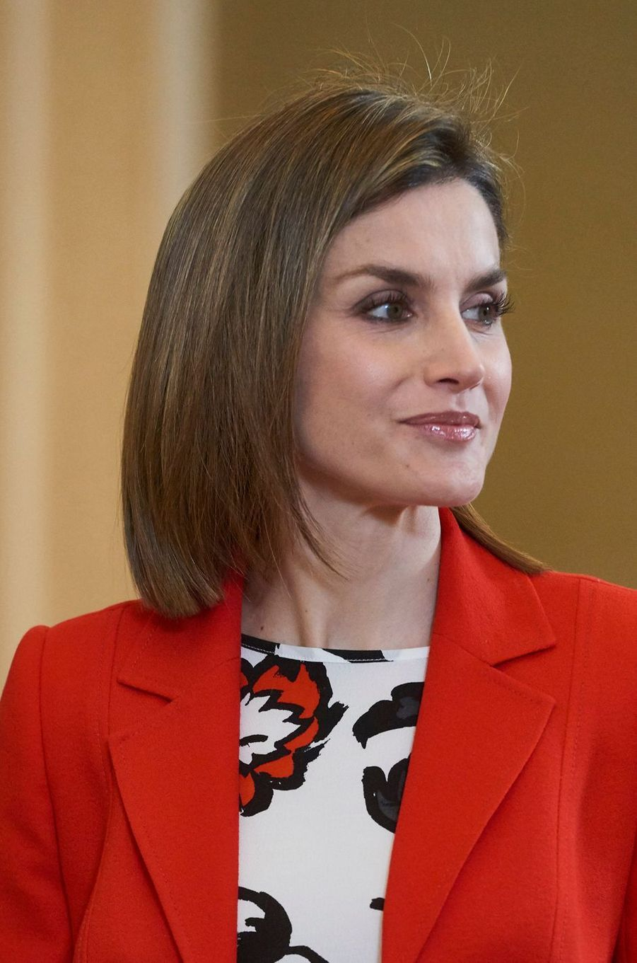 La reine Letizia d'Espagne, le 26 janvier 2016