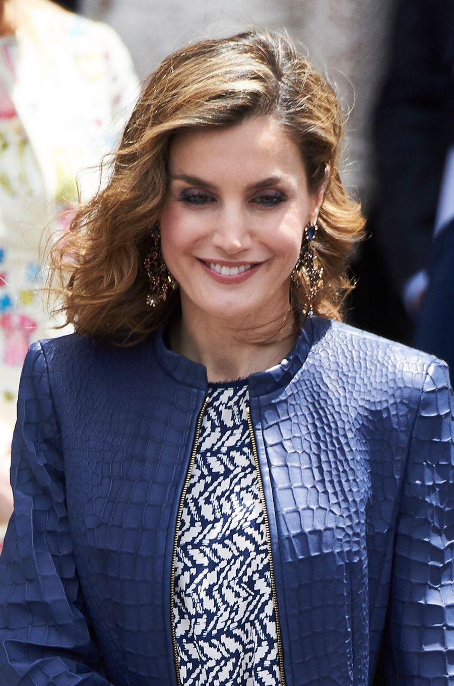 La reine Letizia d'Espagne, le 30 mai 2016