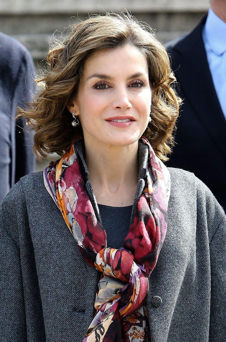 La reine Letizia d'Espagne, le 4 mars 2016