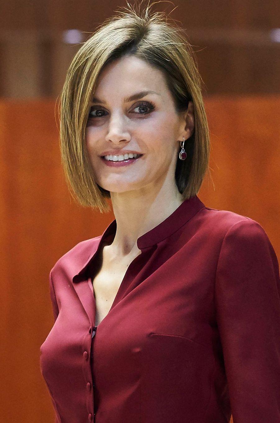 La reine Letizia d'Espagne, le 9 septembre 2015