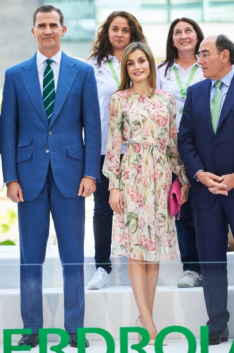 La reine Letizia d'Espagne à Madrid le 5 juillet 2016