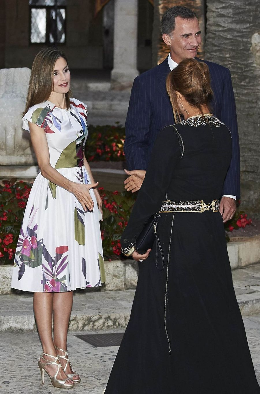 La reine Letizia d'Espagne à Palma de Majorque le 7 août 2016