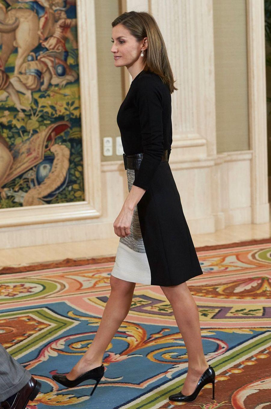 La reine Letizia d'Espagne le 18 novembre 2016