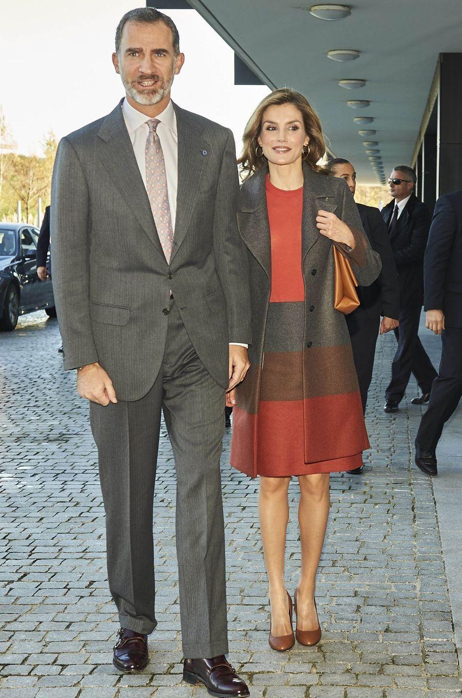 La reine Letizia et le roi Felipe VI d'Espagne le 29 novembre 2016