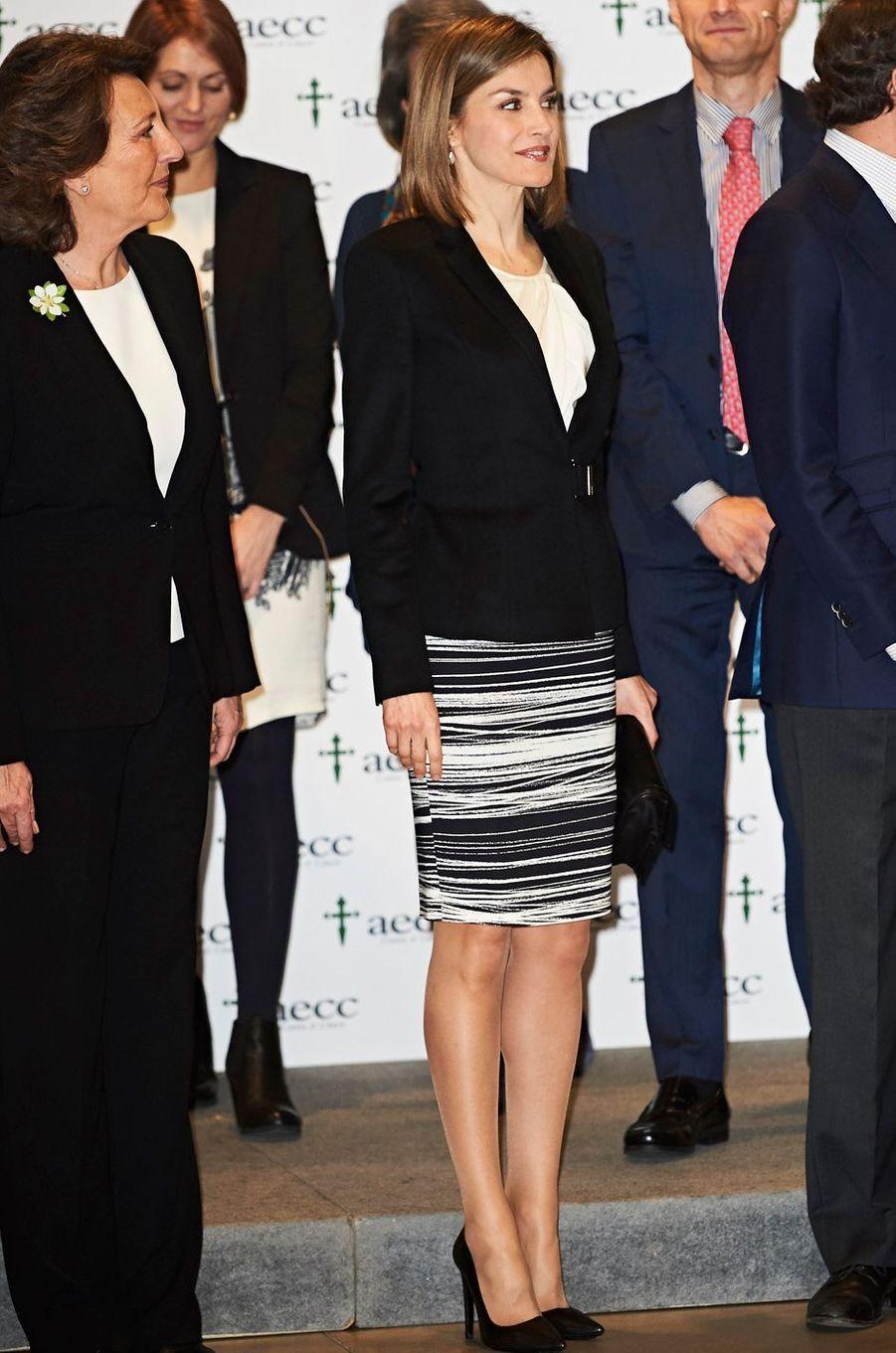La reine Letizia d'Espagne le 3 février 2016