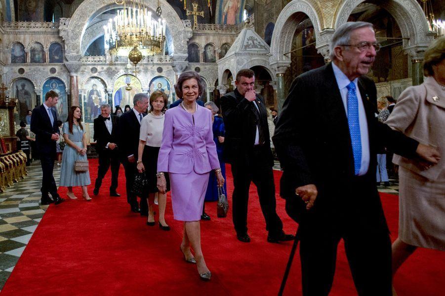 L'ancienne reine Sofia d'Espagne à Sofia en Bulgarie, le 16 juin 2017