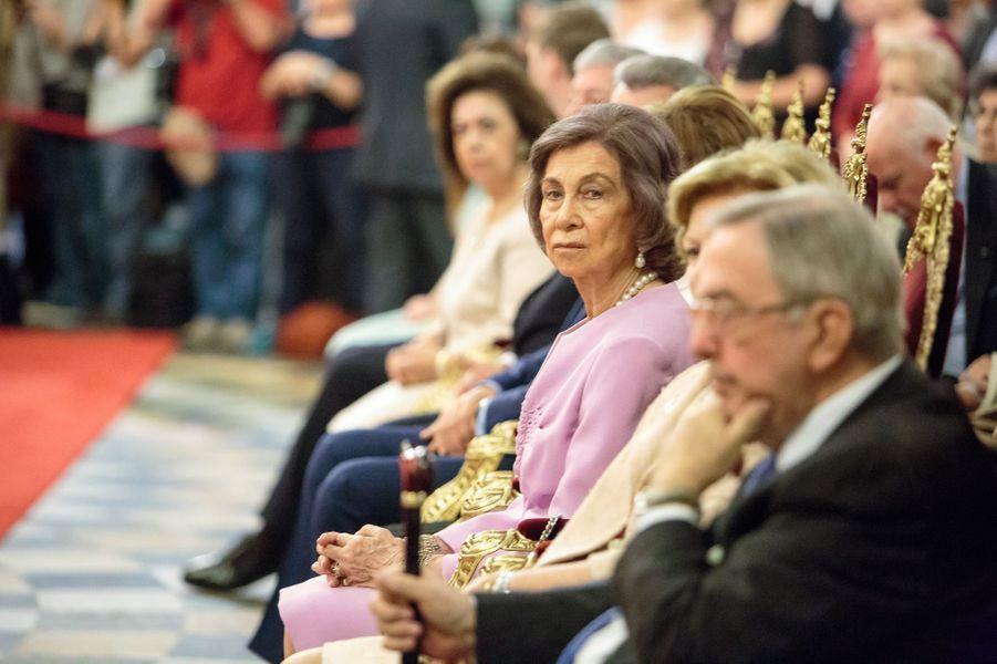 L'ancienne reine Sofia d'Espagne dans la cathédrale Alexandre-Nevski de Sofia, le 16 juin 2017