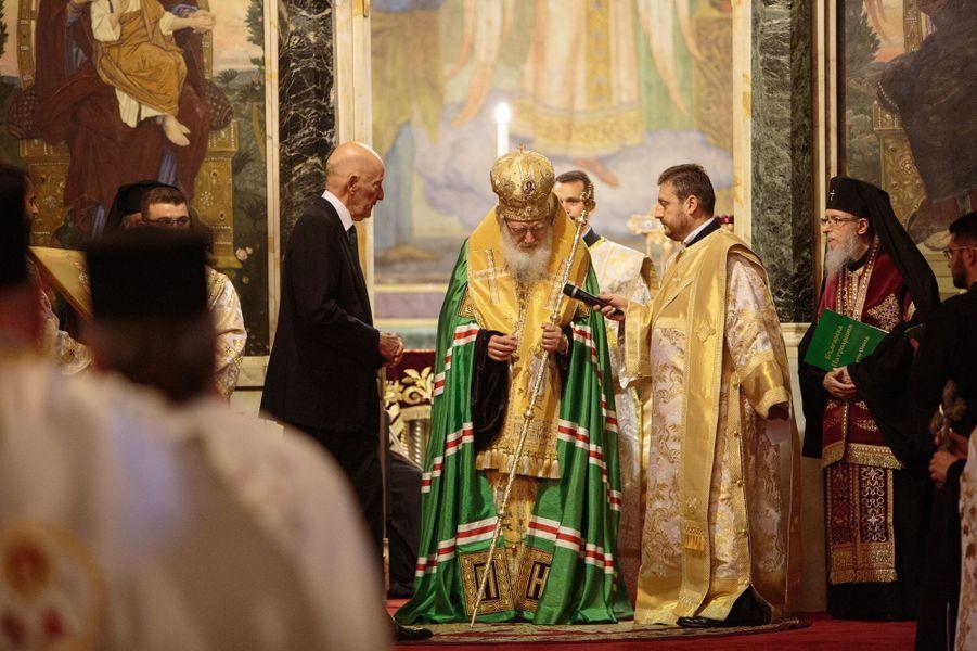 L'ancien roi Siméon II de Bulgarie à Sofia, le 16 juin 2017
