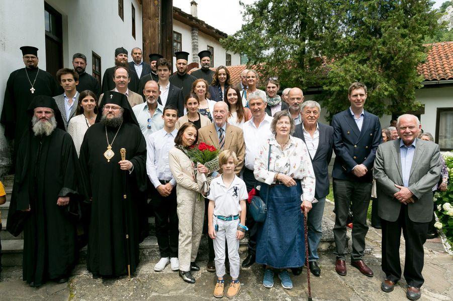 L'ancien roi Siméon II de Bulgarie avec sa famille dans la région de Vratsa, le 17 juin 2017