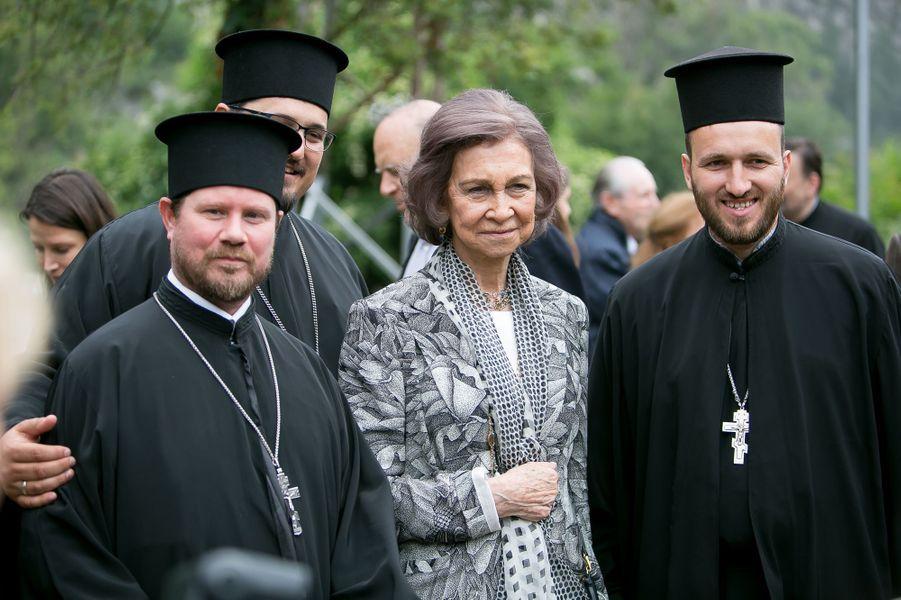 L'ancienne reine Sofia d'Espagne dans la région de Vratsa en Bulgarie, le 17 juin 2017