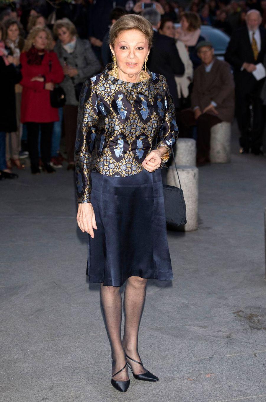 L'ancienne impératrice d'Iran Farah Diba Pahlavi, le 2 novembre 2018 à Madrid