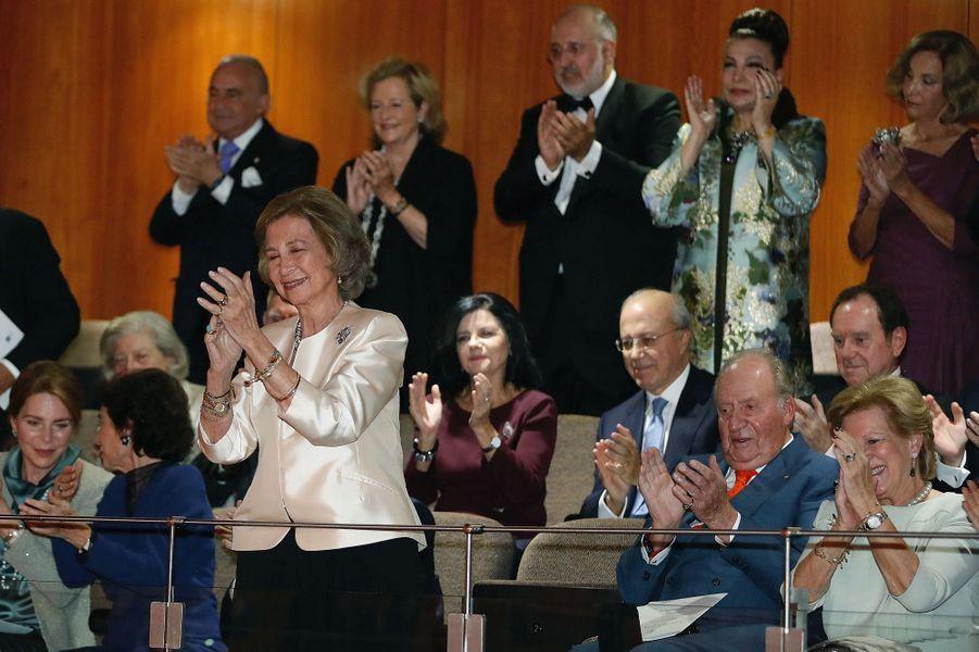 L'ancienne reine Sofia d'Espagne au concert de ses 80 ans à Madrid, le 2 novembre 2018