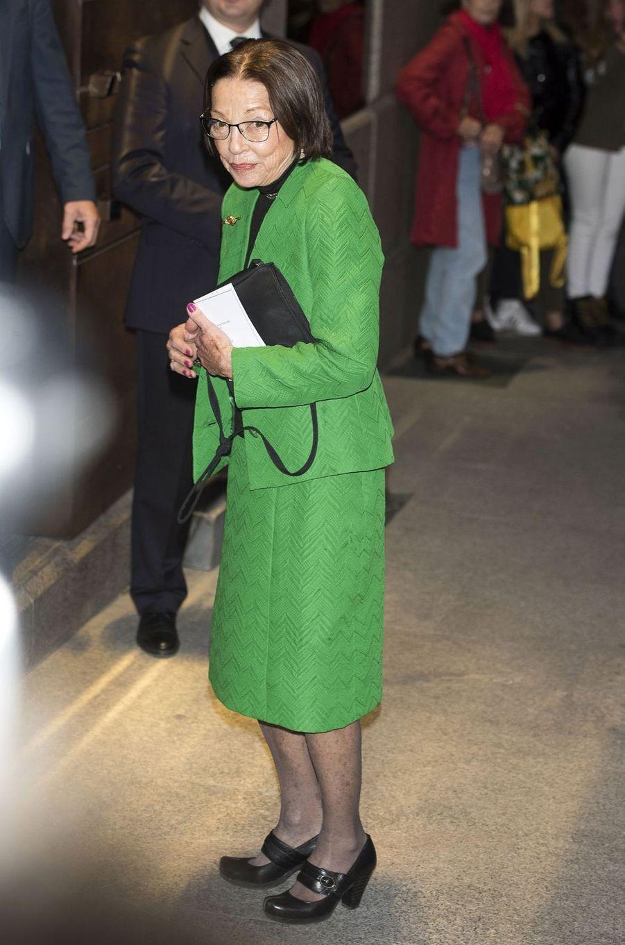Margareta Gómez-Acebo, épouse de l'ancien roi Siméon II de Bulgarie, à Madrid le 2 novembre 2018