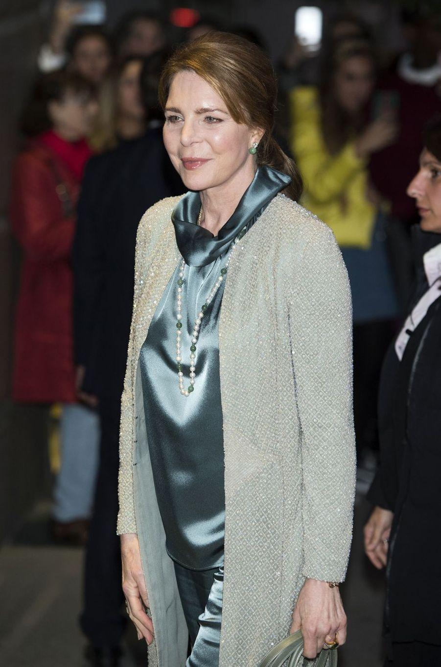 L'ancienne reine Noor de Jordanie, le 2 novembre 2018 à Madrid