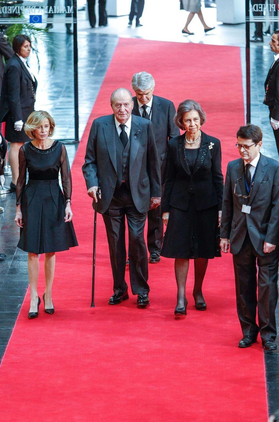 L'ancien roi Juan Carlos et l'ancienne reine Sofia d'Espagne à Strasbourg, le 1er juillet 2017