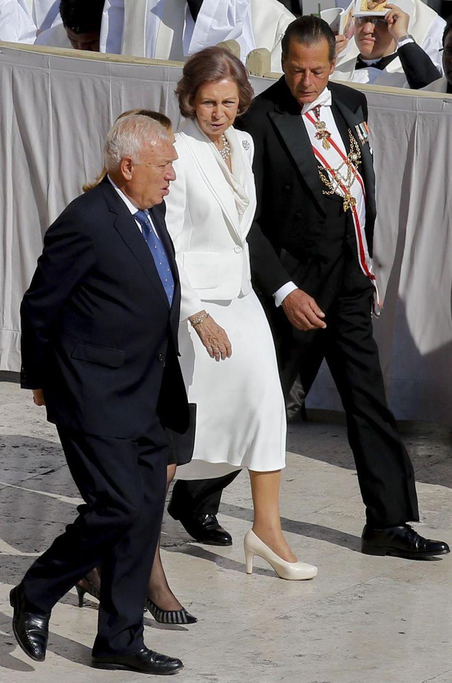 L'ancienne reine Sofia d'Espagne sur la place Saint-Pierre de Rome, le 4 septembre 2016