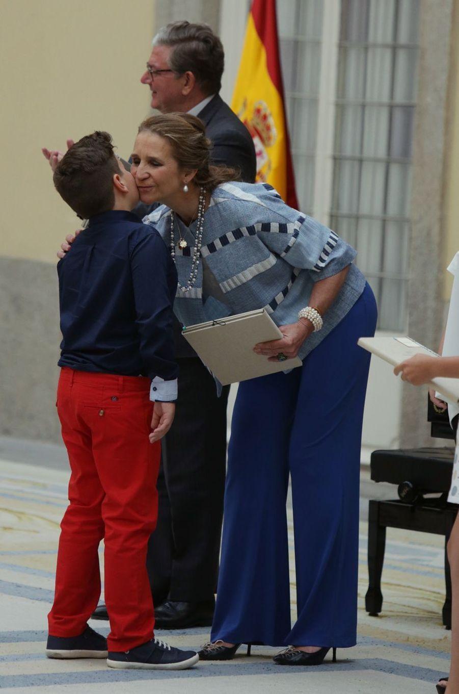 L'infante Elena d'Espagne à Madrid, le 8 juin 2017