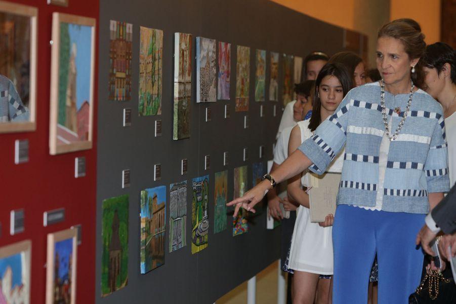 La princesse Elena d'Espagne à Madrid, le 8 juin 2017