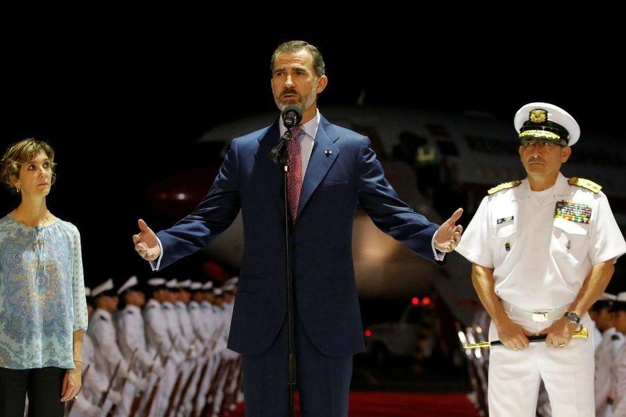 Le roi Felipe VI d'Espagne à Cartagena de Indias, le 27 octobre 2016