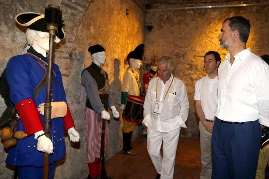 Le roi Felipe VI d'Espagne à Cartagena de Indias, le 28 octobre 2016