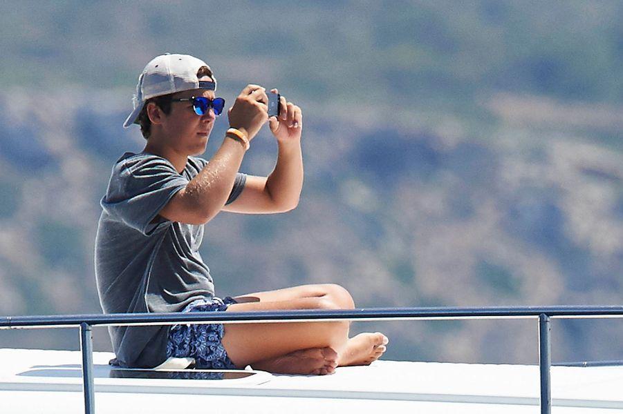 Felipe de Marichalar, fils de l'infante Cristina d'Espagne, à Palma de Majorque, le 5 août 2015