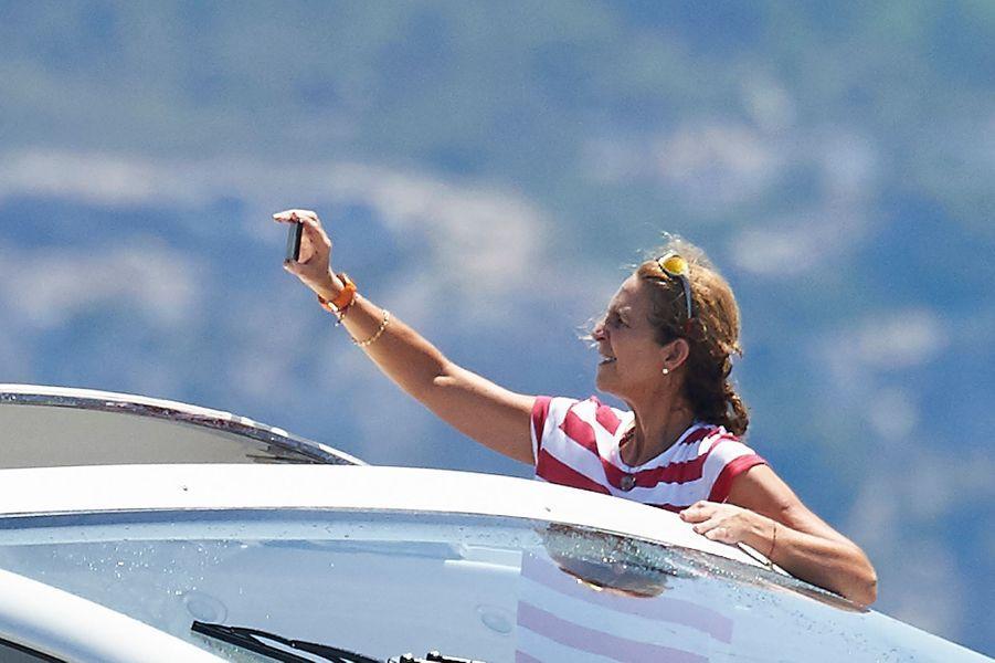 L'infante Cristina d'Espagne à Palma de Majorque, le 5 août 2015