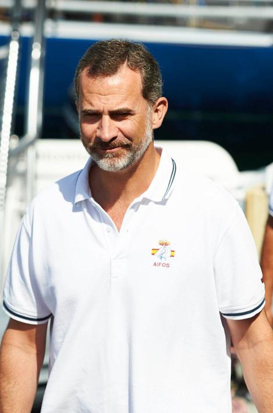 Le roi Felipe VI d'Espagne à Palma de Majorque, le 5 août 2015