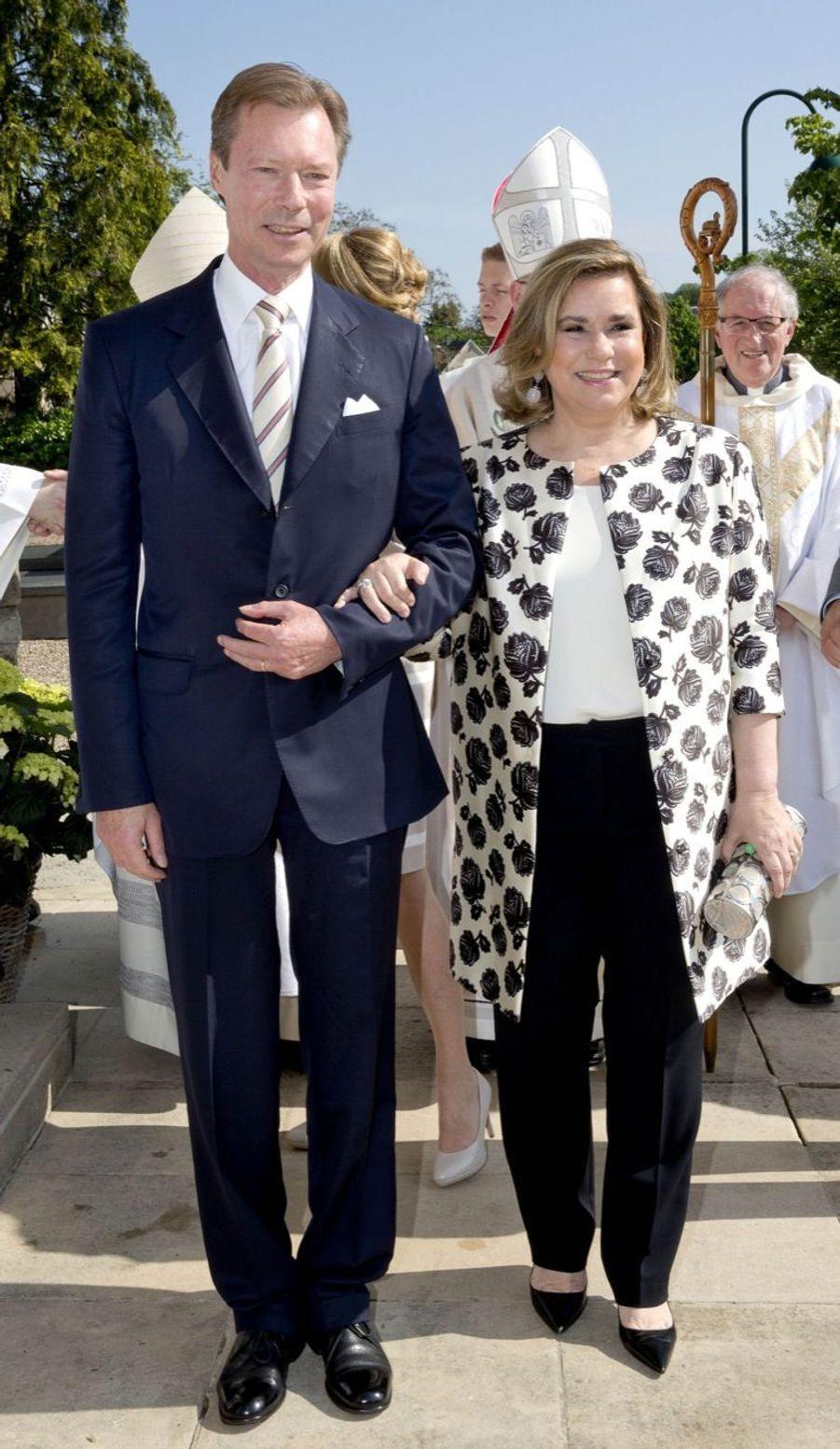 A la communion du prince Noah du Luxembourg