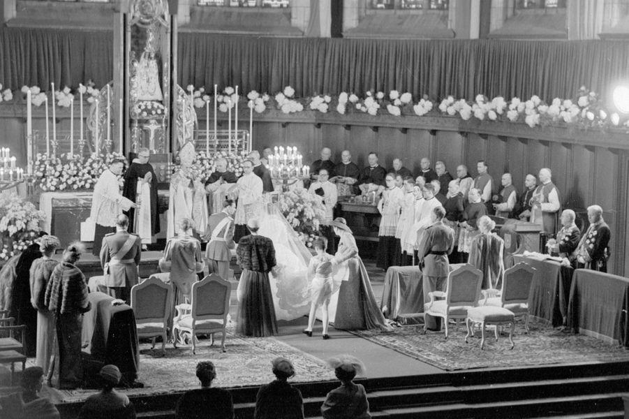 Mariage du grand-duc héritier Jean de Luxembourg et de la princesse Joséphine-Charlotte de Belgique, le 9 avril 1953