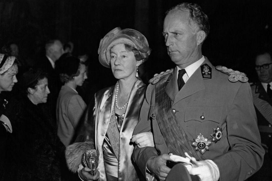 La grande-duchesse Charlotte de Luxembourg et l'ancien roi Léopold III de Belgique, le 9 avril 1953