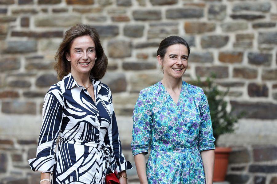 Les comtesses Natalie (Mme John Hamilton) et Gaëlle de Lannoy, soeurs de la princesse Stéphanie, à l'abbaye de Clervaux le 19 septembre 2020