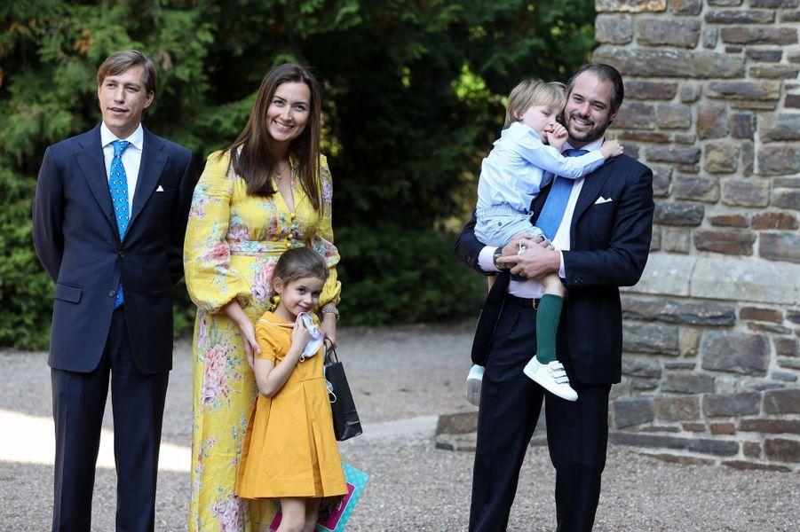 Les princes Louis, Félix et Liam et les princesses Claire et Amalia de Luxembourg à l'abbaye de Clervaux, le 19 septembre 2020