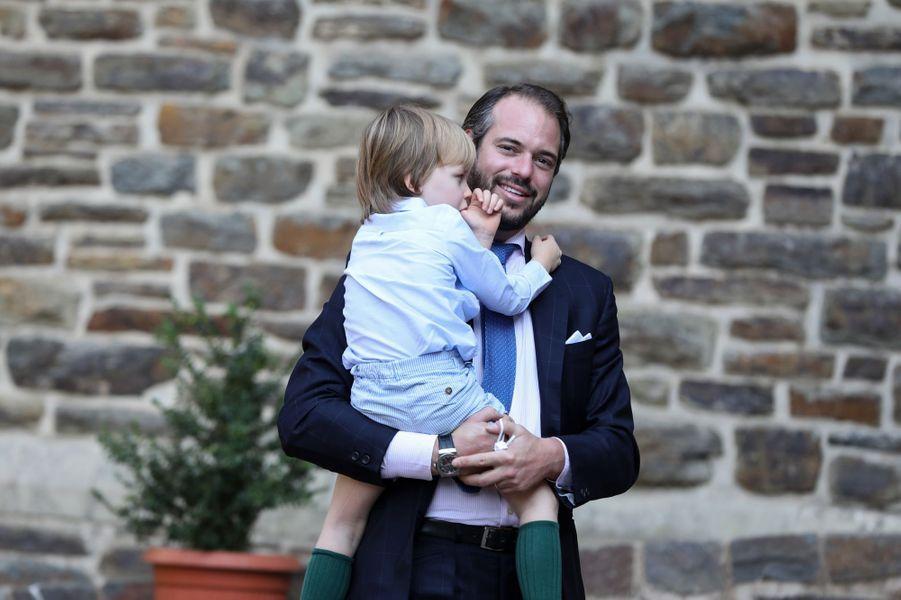 Les princes Félix et Liam de Luxembourg à l'abbaye de Clervaux, le 19 septembre 2020