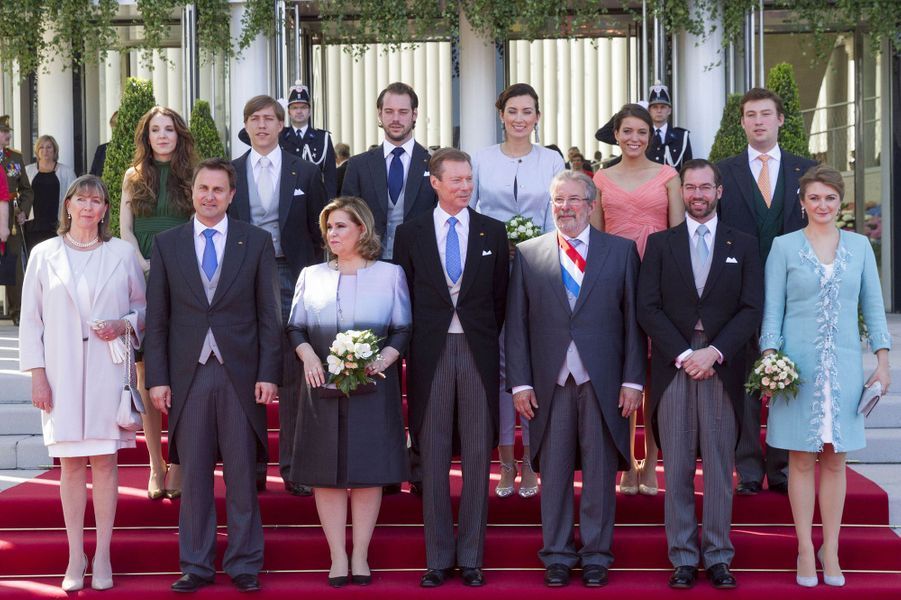 La famille grand-ducale de Luxembourg à Luxembourg, le 23 juin 2016