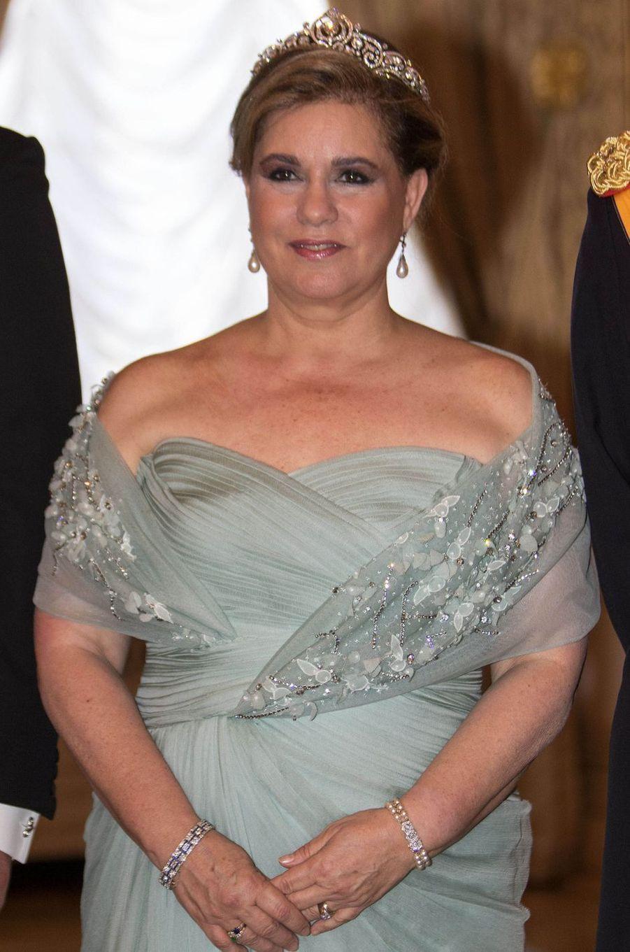 La grande-duchesse Maria Teresa de Luxembourg à Luxembourg, le 23 juin 2016