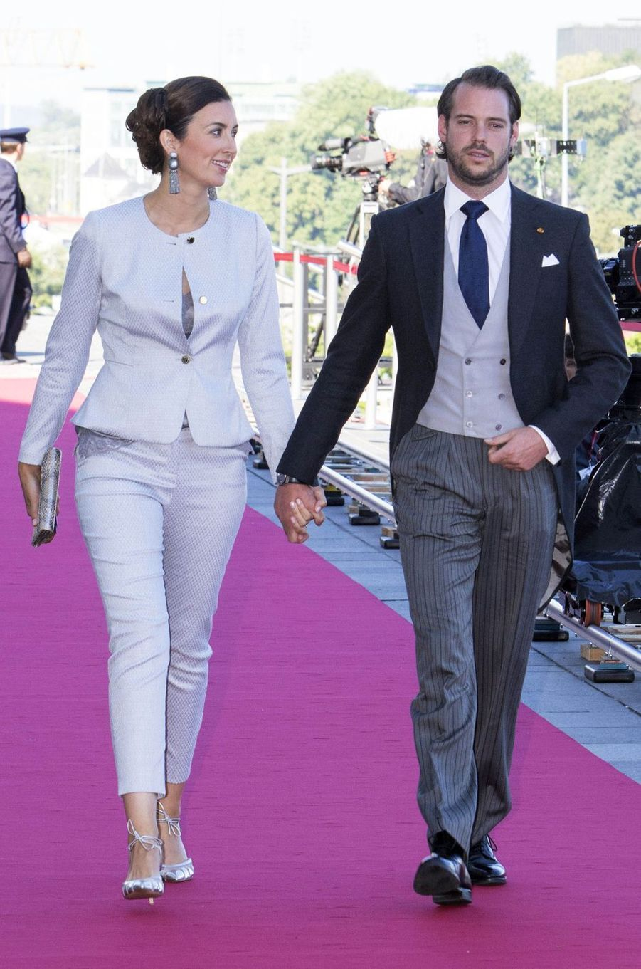 La princesse Claire et le prince Félix de Luxembourg à Luxembourg, le 23 juin 2016
