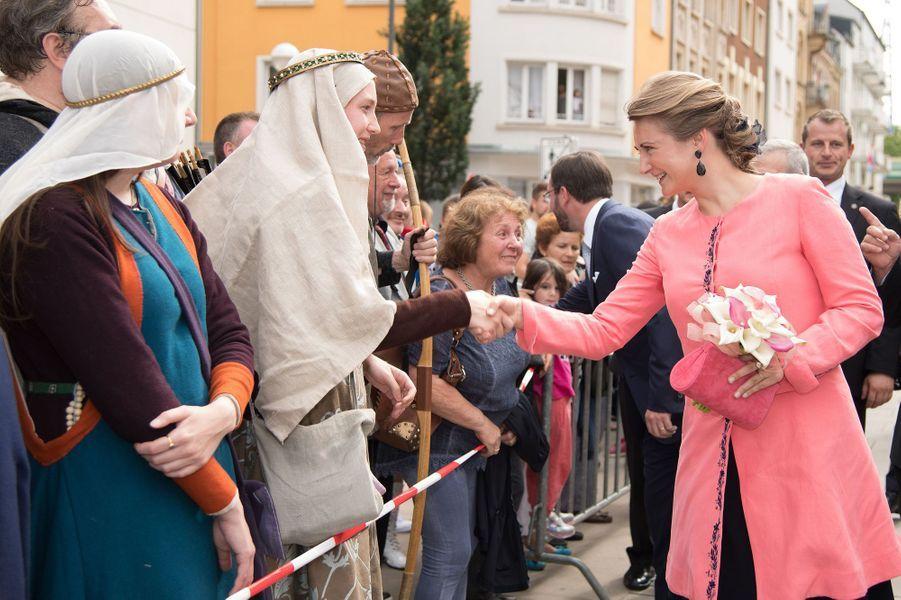 La princesse Stéphanie de Luxembourg à Esch-sur-Alzette, le 22 juin 2016