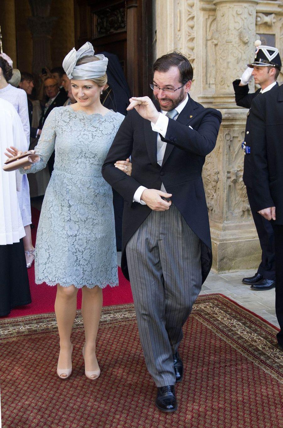 La princesse Stéphanie et le prince Guillaume de Luxembourg à Luxembourg, le 23 juin 2016