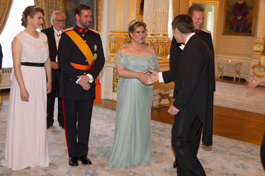 La princesse Stéphanie, le prince Guillaume, la grande-duchesse Maria Teresa et le grand-duc Henri de Luxembourg à Luxembourg, le 23 juin 2016