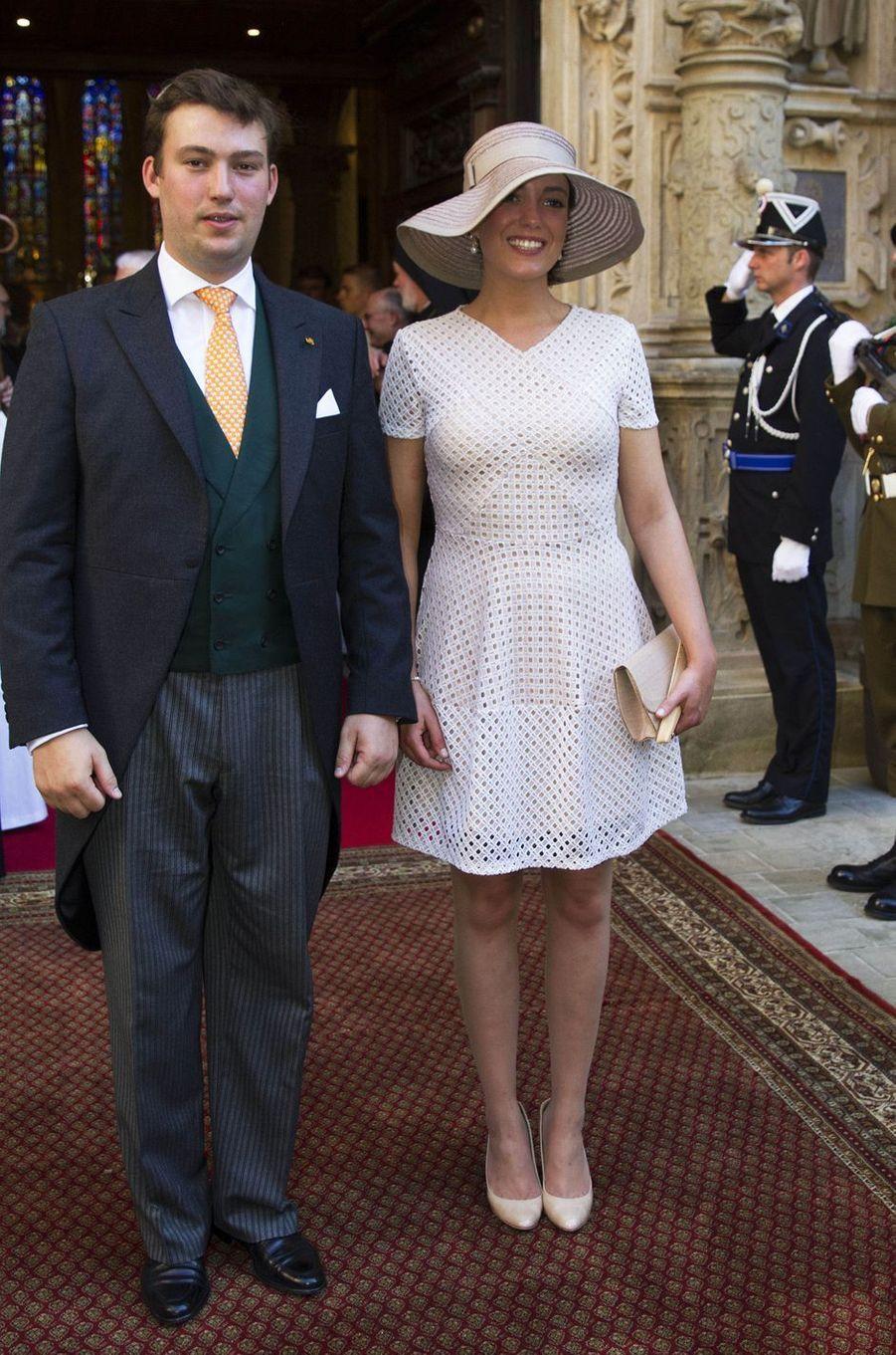 Le prince Sébastien et la princesse Alexandra de Luxembourg à Luxembourg, le 23 juin 2016