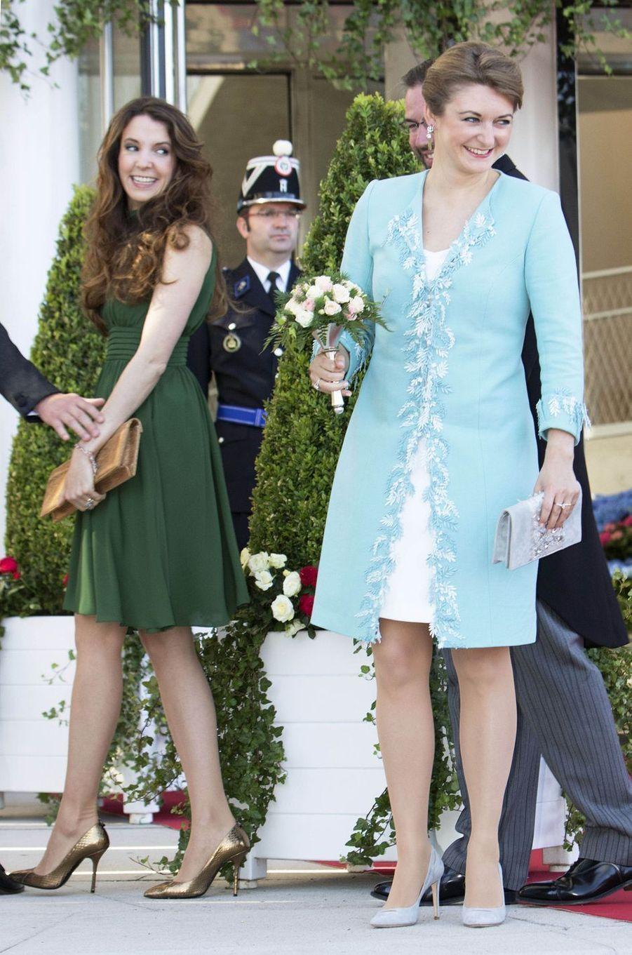 Les princesse Tessy et Stéphanie de Luxembourg à Luxembourg, le 23 juin 2016