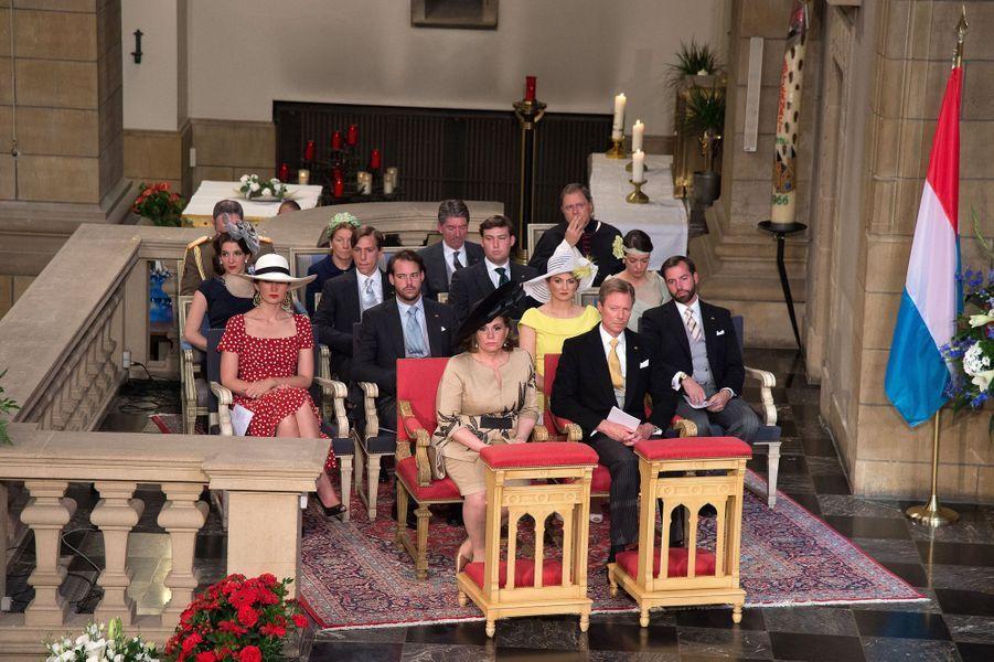 La famille grand-ducale à Luxembourg, le 23 juin 2015