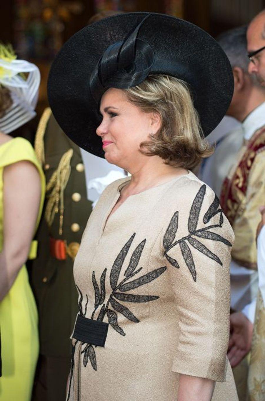 La grande-duchesse Maria-Teresa à Luxembourg, le 23 juin