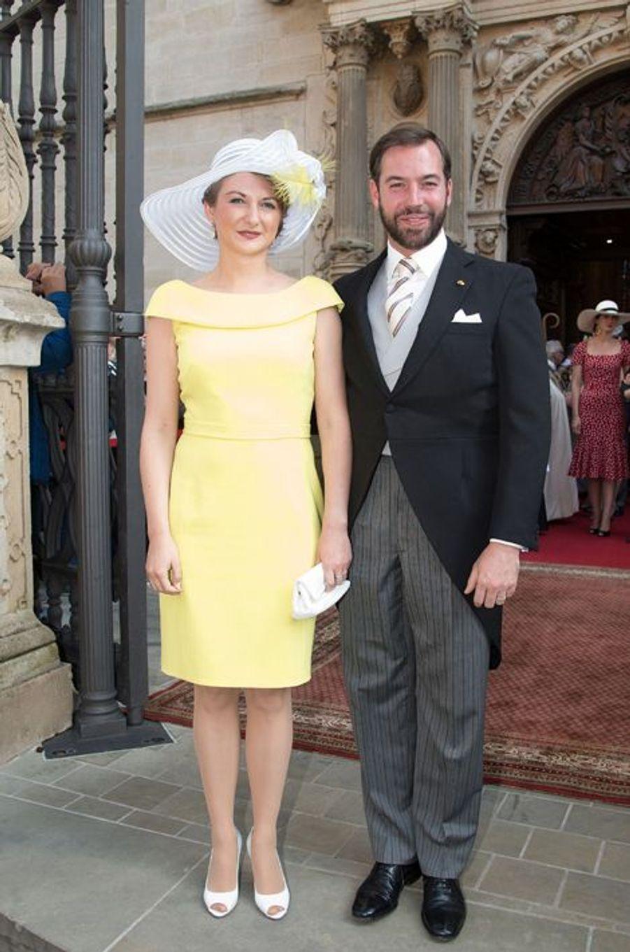 La princesse Stéphanie et le prince Guillaume à Luxembourg, le 23 juin 2015
