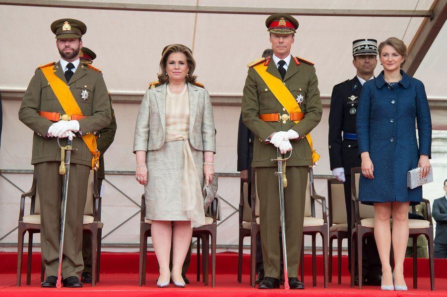 Le couple grand-ducal et le couple héritier à Luxembourg, le 23 juin 2015