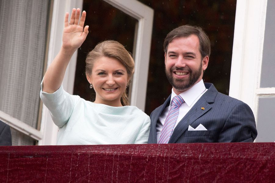 Le prince Guillaume et la princesse Stéphanie à Esch-sur-Alzette, le 22 juin 2015