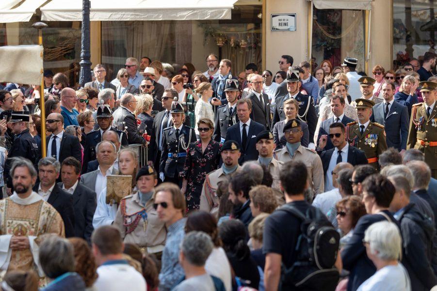 La famille grand-ducale de Luxembourg à la procession de l'Octave à Luxembourg, le 26 mai 2019