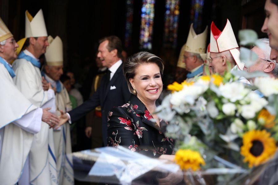 La grande-duchesse Maria Teresa et le grand-duc Henri de Luxembourg à Luxembourg, le 26 mai 2019