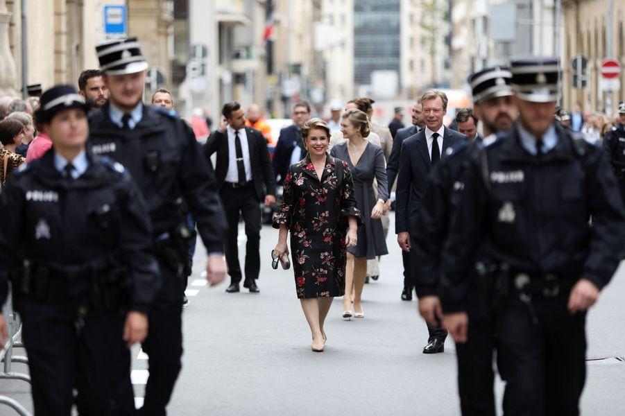 La famille grand-ducale de Luxembourg à Luxembourg, le 26 mai 2019